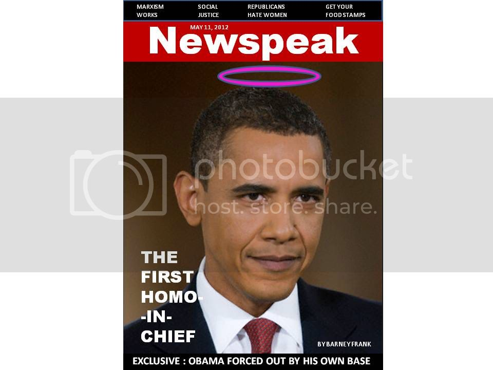 Obama Newspeak Cover, Why did you Libs out your buddy?